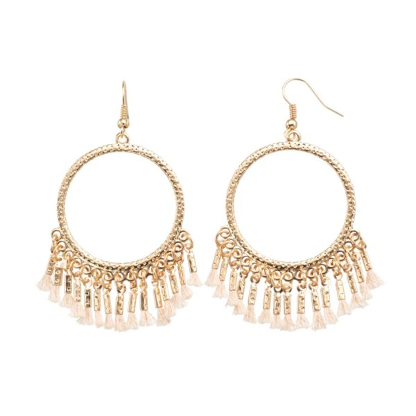 Mudd® Hoop Drop Earrings