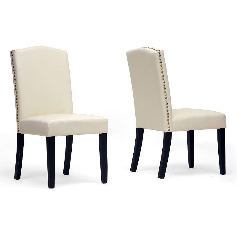 Baxton Studios Trullinger 2-piece Modern Dining Chair Set