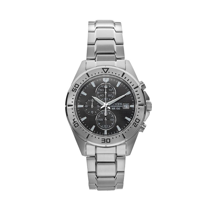 Citizen Men's Stainless Steel Chronograph Watch - AN3460-56E