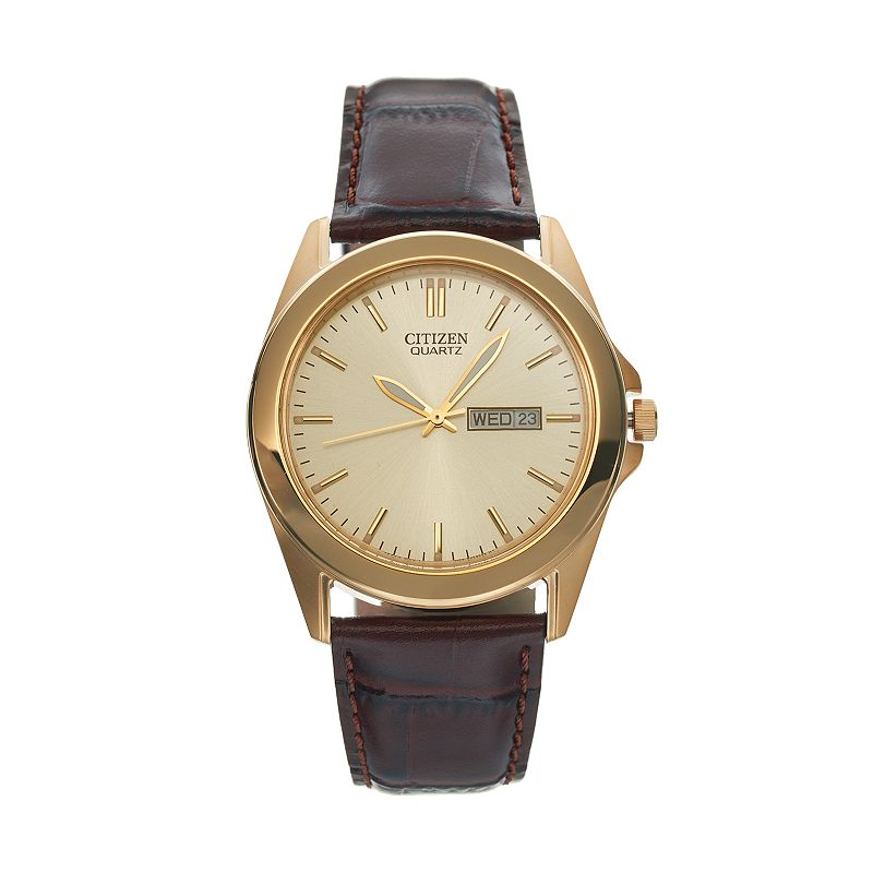 Citizen Men's Leather Watch - BF0582-01P