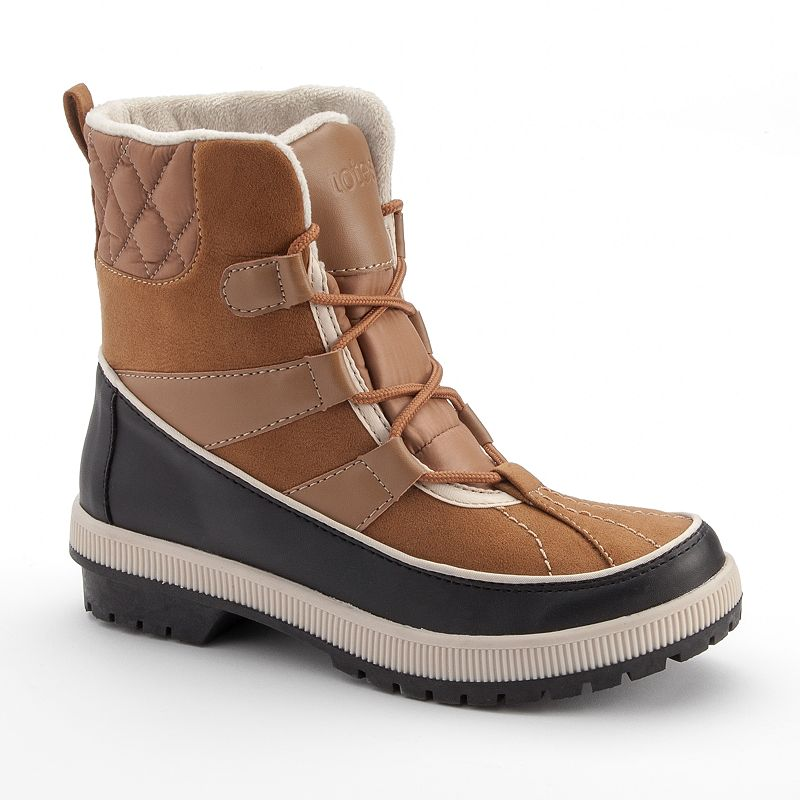 Totes Laurie Quilted Lace-Up Women's Waterproof Winter Boots