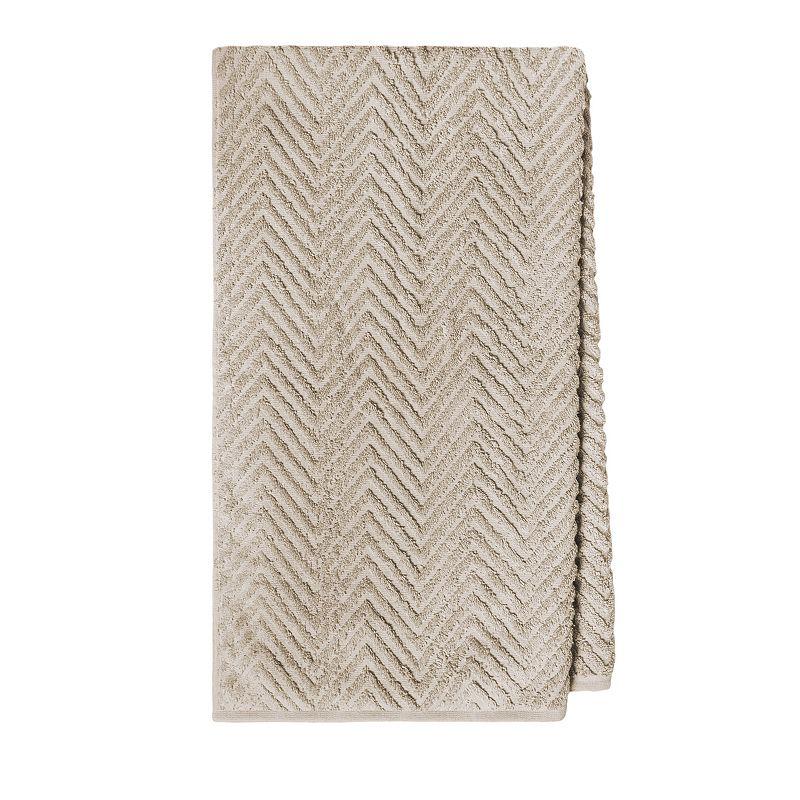 Jessica McClintock Chevron Texture Bath Towel