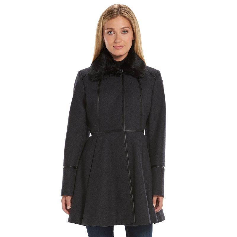 Women's Apt. 9® Wool-Blend Fit & Flare Peacoat