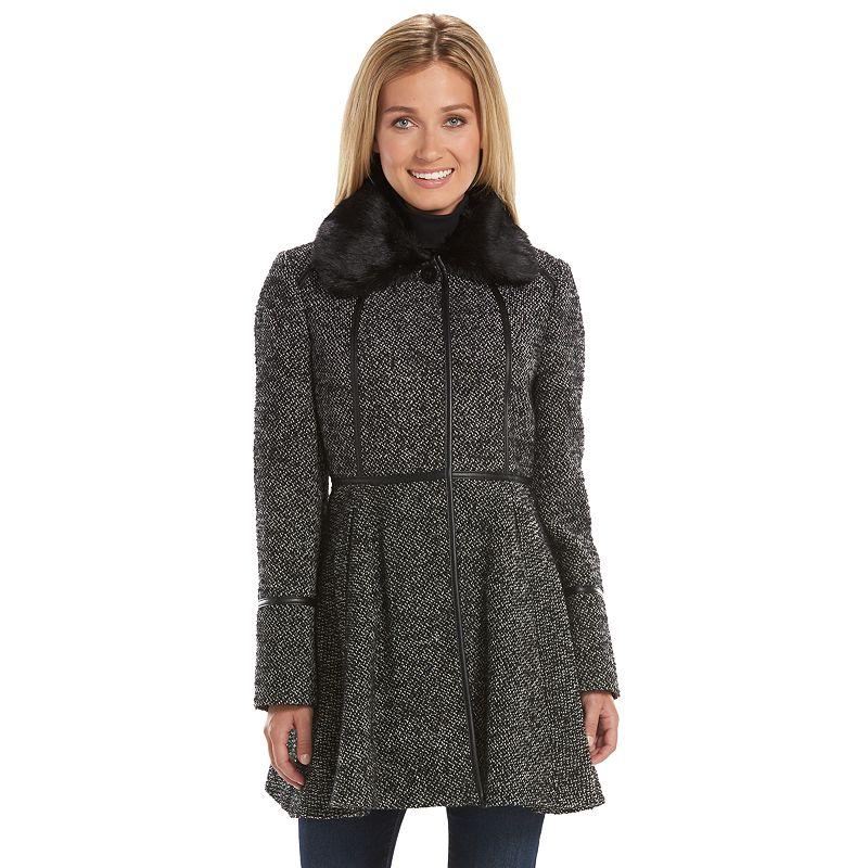 Women's Apt. 9® Wool-Blend Fit & Flare Peacoat