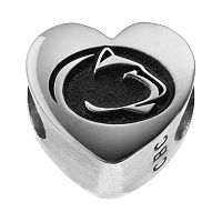 Fiora Sterling Silver Penn State Nittany Lions Logo Heart Bead