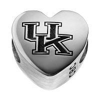 Fiora Sterling Silver Kentucky Wildcats Logo Heart Bead