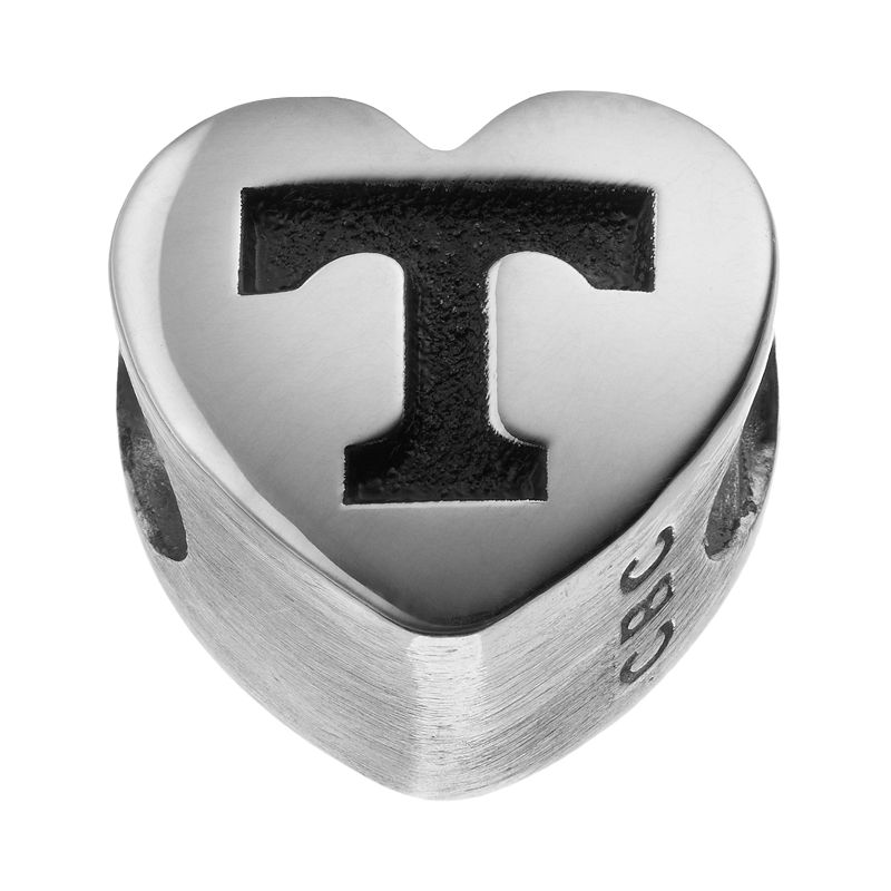 Fiora Sterling Silver Tennessee Volunteers Logo Heart Bead