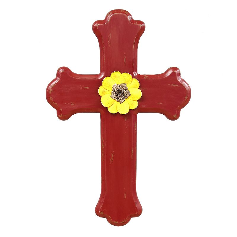 Stratton Home Decor Red Cross Wall Decor