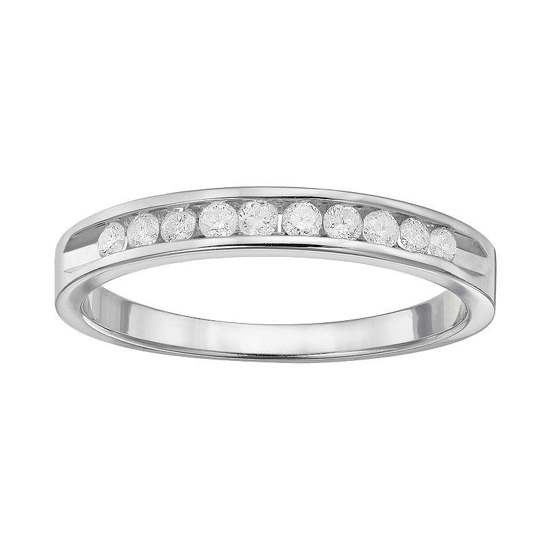 1/4 Carat T.W. Diamond 10k White Gold Ring