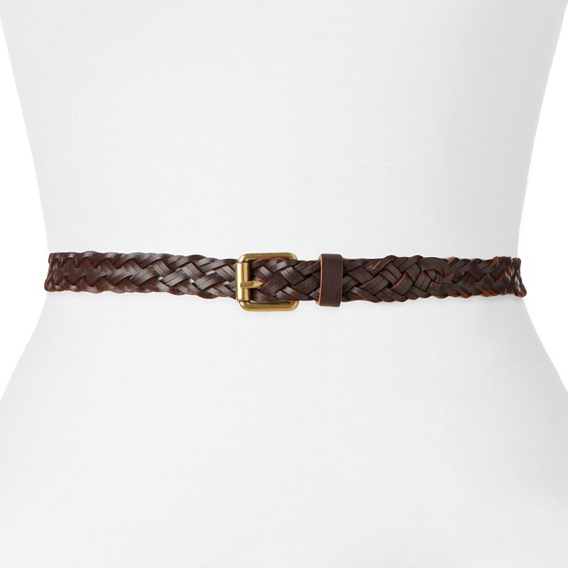 SONOMA Goods for Life™ Leather Braided Women's Skinny Belt