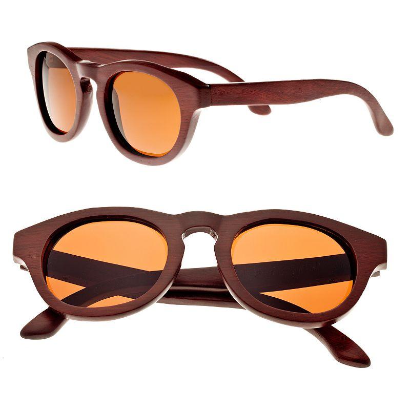 Earth Wood Retro Round Unisex Sunglasses