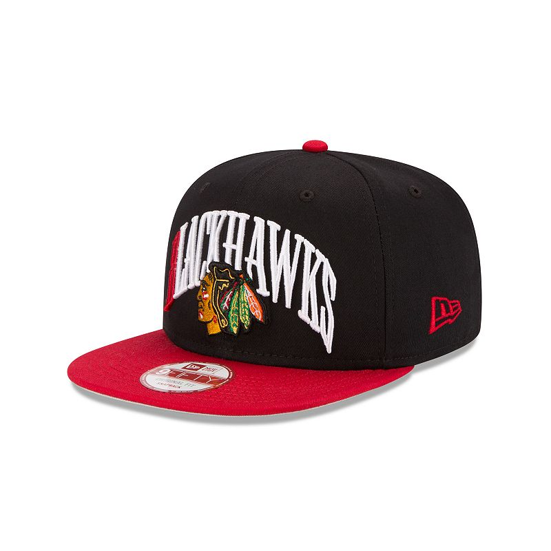 Adult New Era Chicago Blackhawks Team Lead 9FIFTY Original Fit Snapback Cap