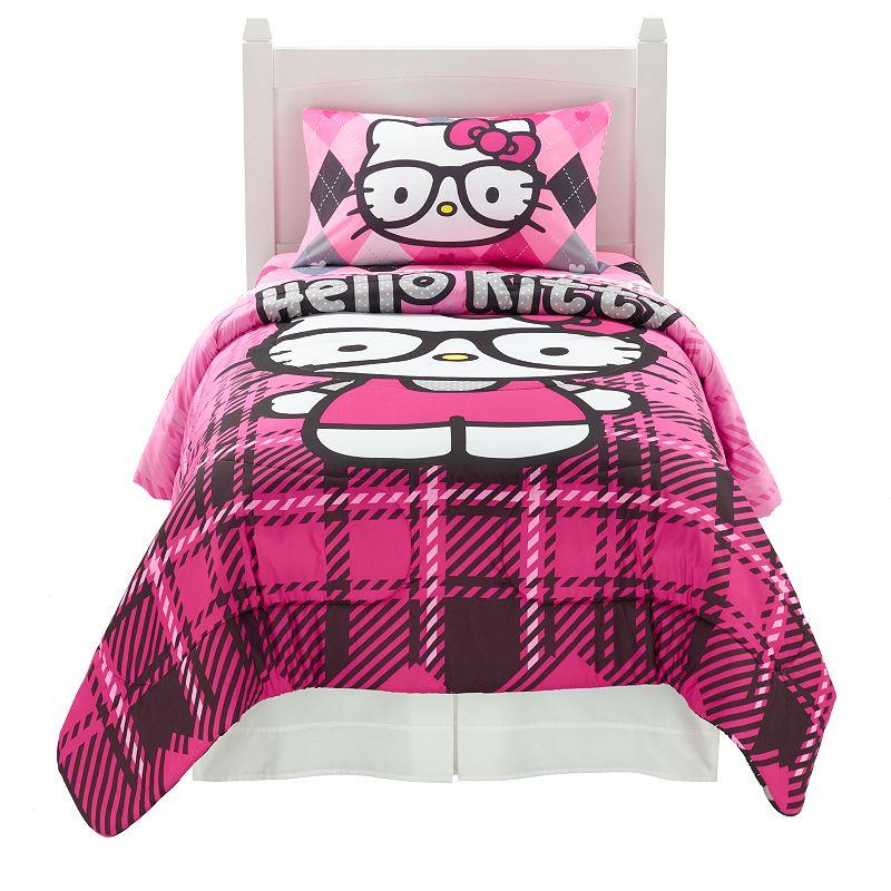 Sanrio Hello Kitty I Heart Nerd Bed Set