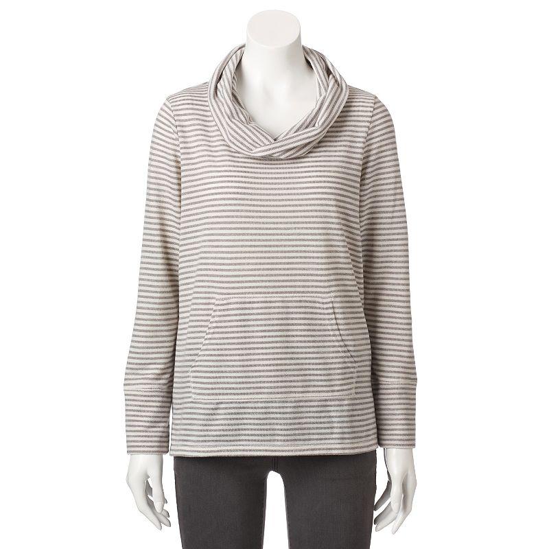 Petite SONOMA Goods for Life™ Cowlneck Sweatshirt