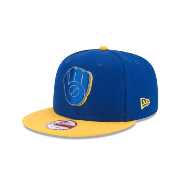 Adult New Era Milwaukee Brewers Shadow Slice 9FIFTY Original Fit Snapback Cap