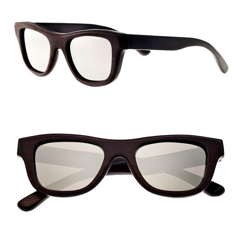 Earth Wood Retro Square Unisex Sunglasses