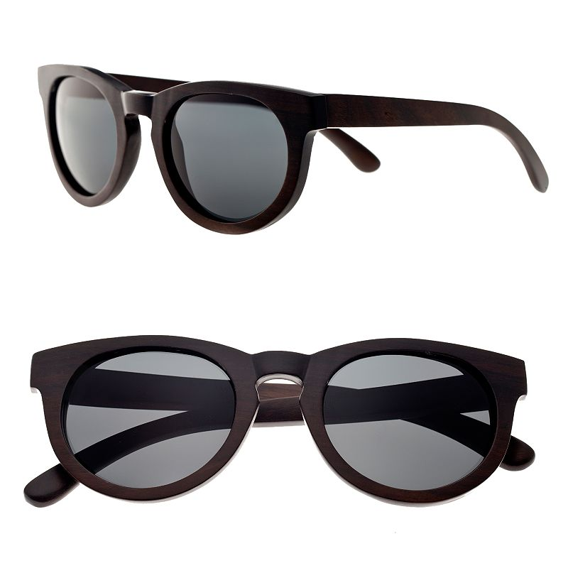 Earth Wood 42mm Round Unisex Sunglasses