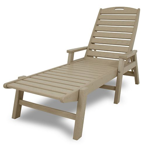 polywood nautical outdoor folding chaise lounge chair