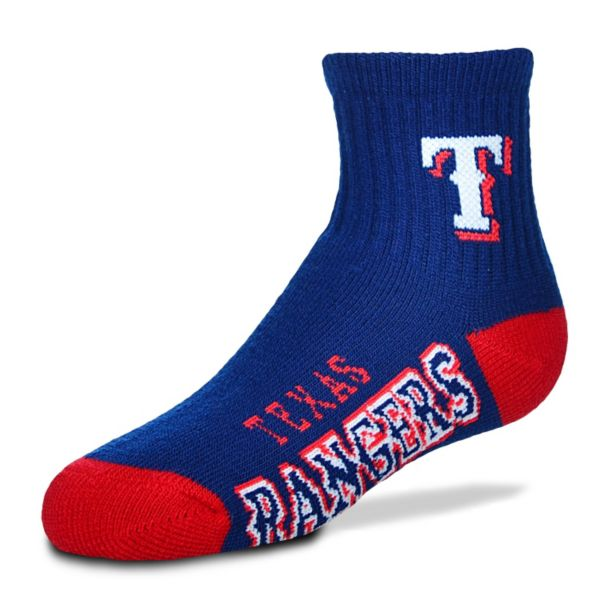 For Bare Feet Texas Rangers Team Color 1/4-Crew Socks - Youth