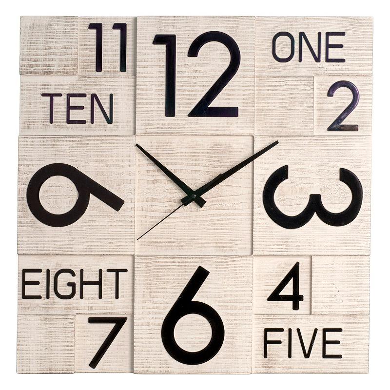 Modern Square Wood Wall Clock
