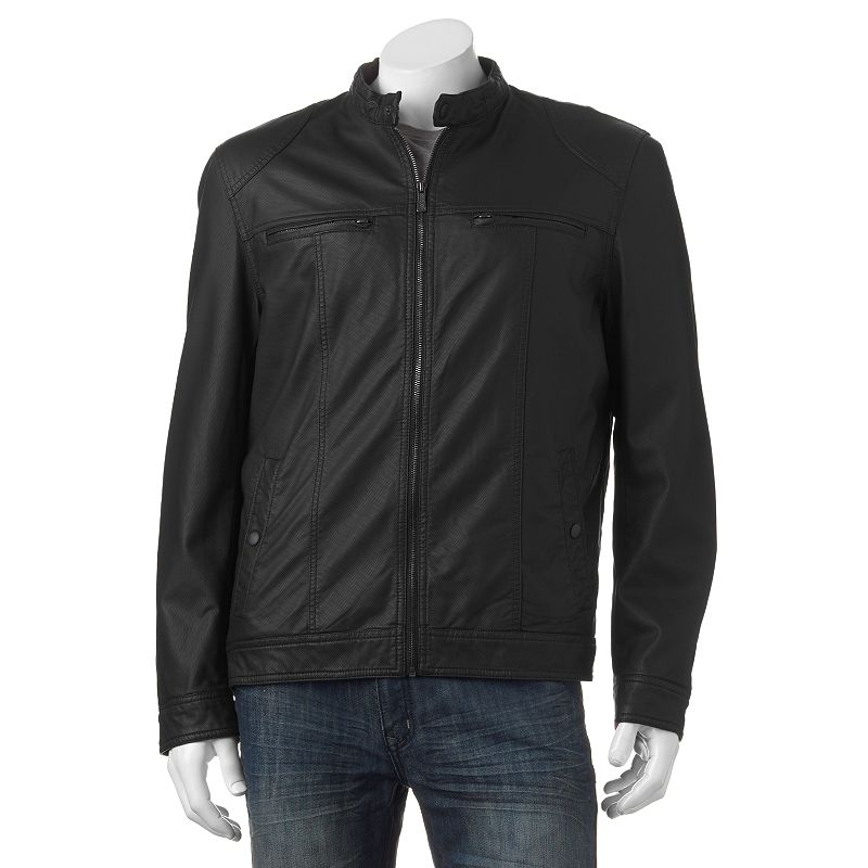 Men's Apt. 9® Textured Faux-Leather Bomber Jacket