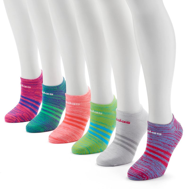 adidas climalite Superlite 6-pk. Space-Dye No-Show Socks - Women