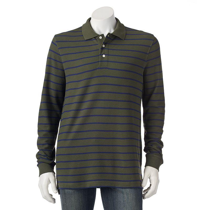 Croft & Barrow® Classic-Fit Striped Pique Polo - Men