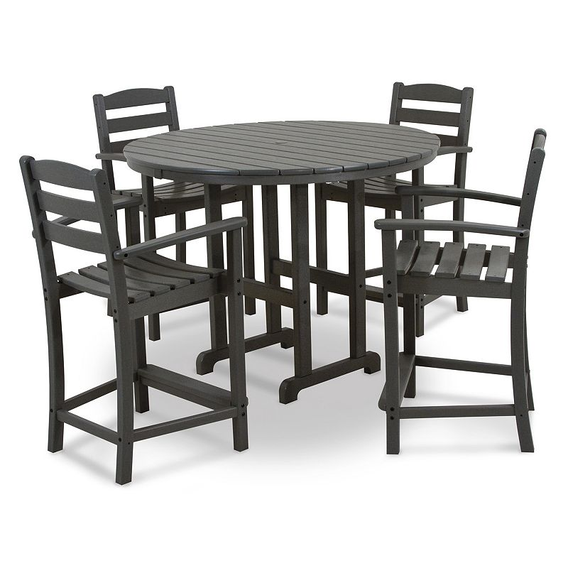 Counter Height Outdoor Dining Sets : POLYWOOD? Traditional Garden 7-piece Outdoor Dining Set