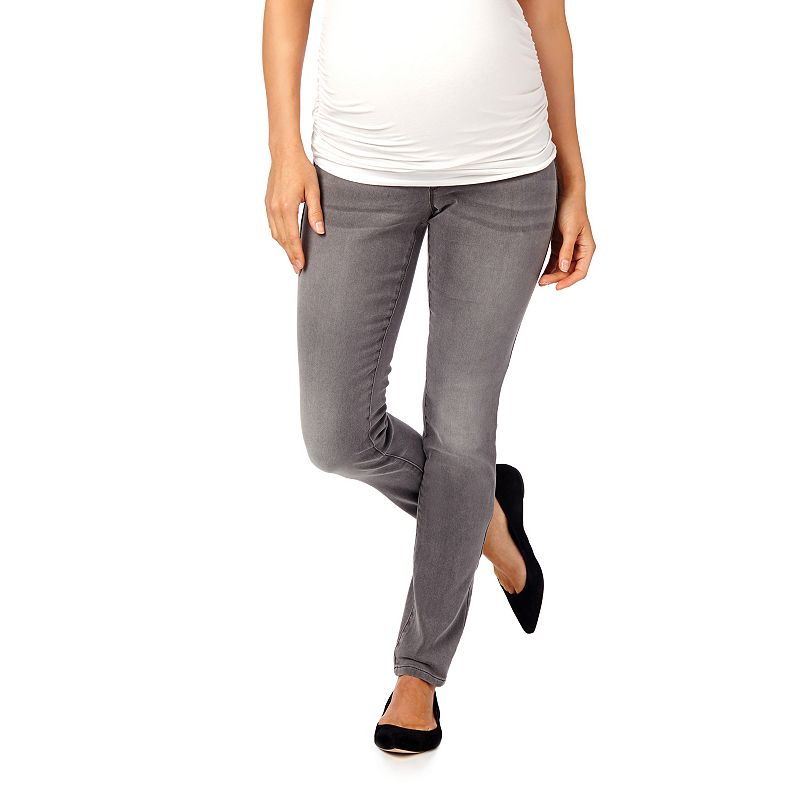 Maternity Oh Baby by Motherhood™ Secret Fit Belly™ Gray Skinny Jeans