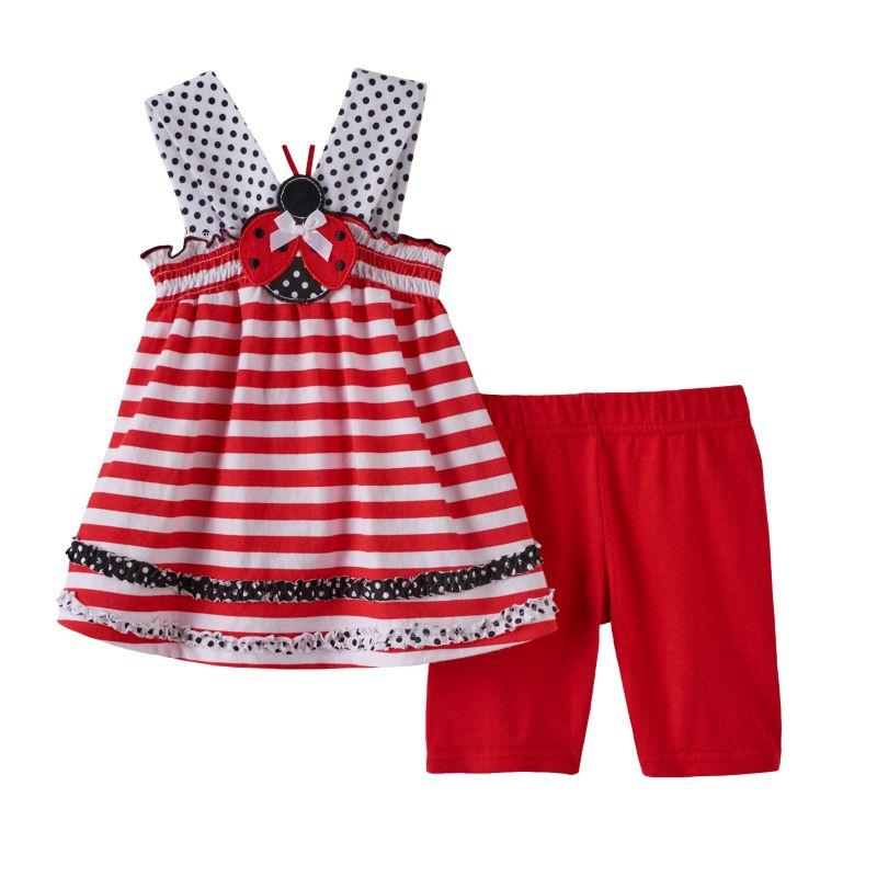 Baby Girl Ladybug Sleeveless Tunic And