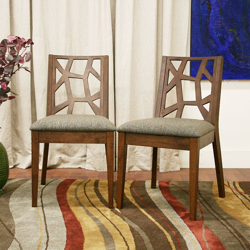 Baxton Studios 2-Piece Jennifer Modern Dining Chair Set