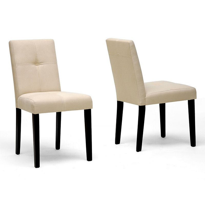 Baxton Studios 2-Piece Elsa Modern Dining Chair Set