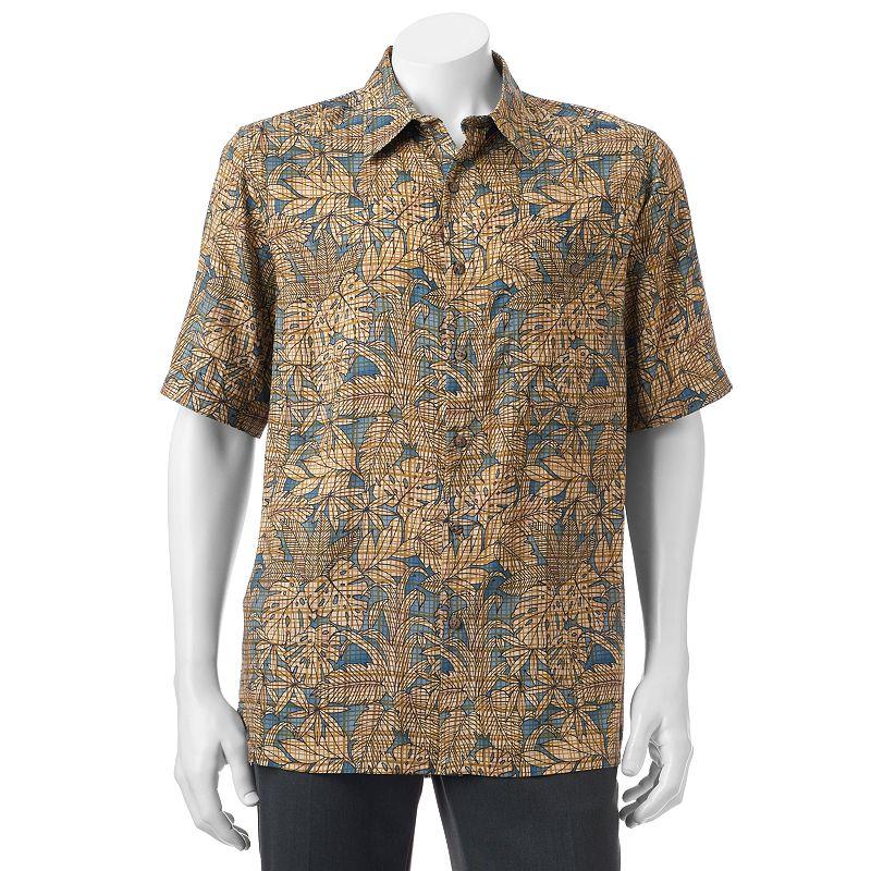 Purple short sleeve shirt kohl 39 s for Men s batik bay silk blend button down shirt
