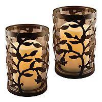 LumaBase 2-piece Vine Lantern & LED Candle Set