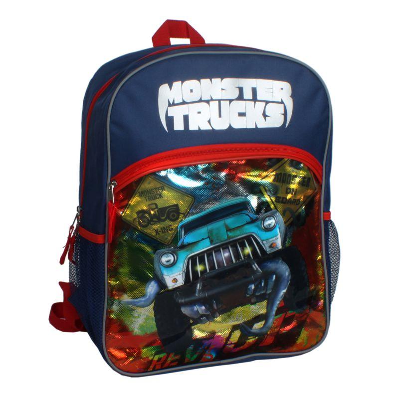 Monster Trucks Backpack - Kids, Blue