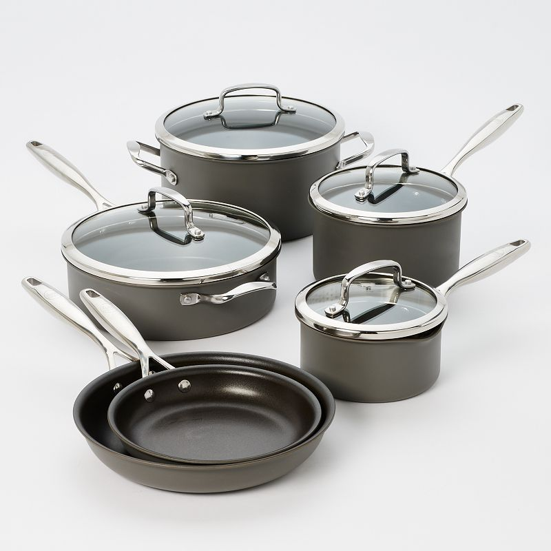 Anodized aluminum cookware set kohl 39 s for Cuisine aluminium