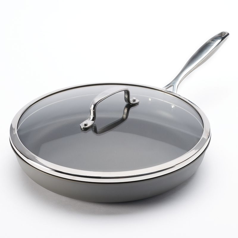 Food Network™ 12-in. Hard-Anodized Nonstick Covered Deep Skillet