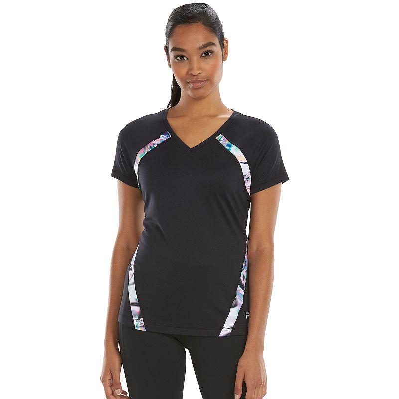 Fila Sport Colorblock Performance Tshirt Women's X Black T Shirt | Shirts, Tops and Clothing