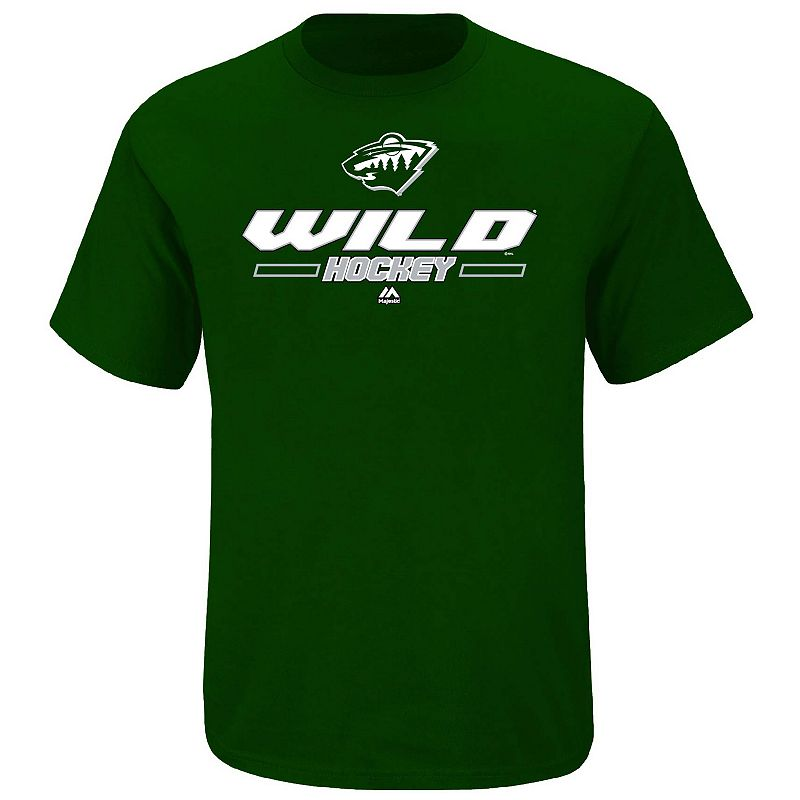 Big & Tall Majestic Minnesota Wild Synthetic Tee