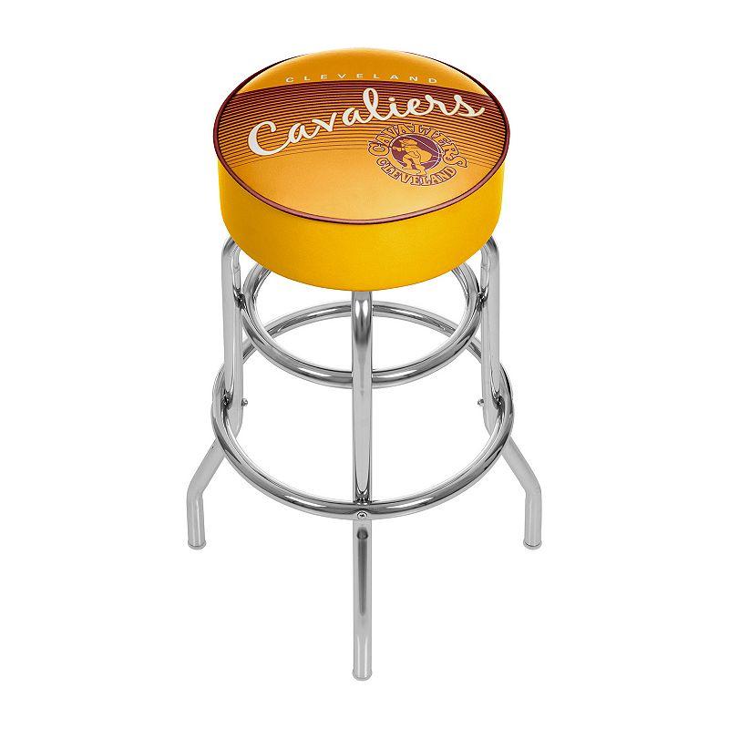 Cleveland Cavaliers Hardwood Classics Padded Swivel Bar Stool