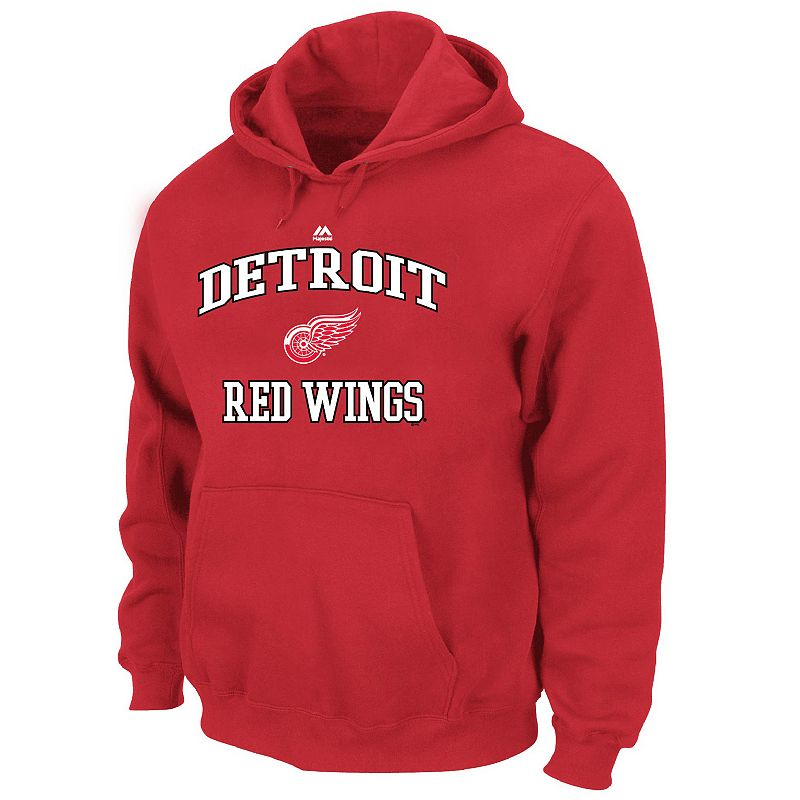 Big & Tall Majestic Detroit Red Wings Heart and Soul II Fleece Hoodie