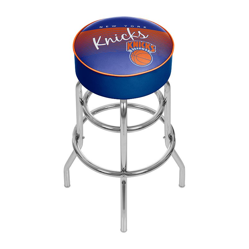 New York Knicks Hardwood Classics Padded Swivel Bar Stool