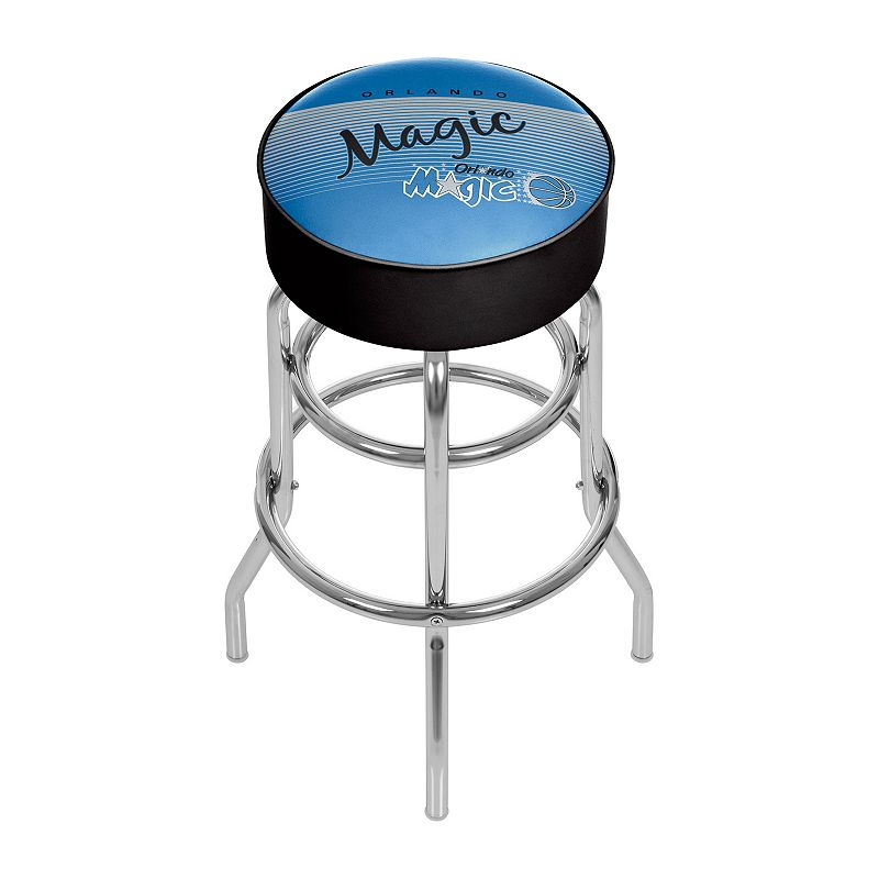 Orlando Magic Hardwood Classics Padded Swivel Bar Stool