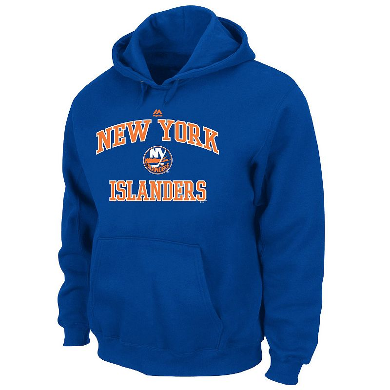 Big & Tall Majestic New York Islanders Heart and Soul II Fleece Hoodie