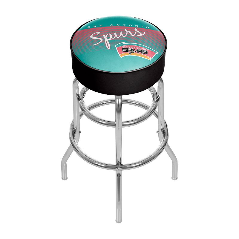 San Antonio Spurs Hardwood Classics Padded Swivel Bar Stool