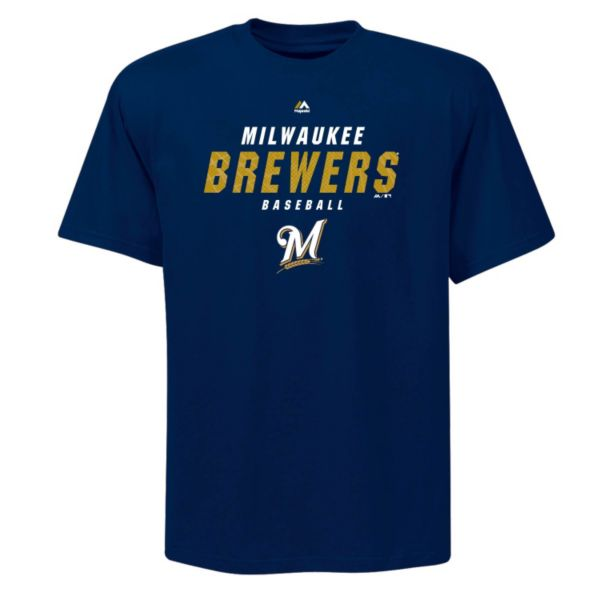 Big & Tall Majestic Milwaukee Brewers All the Way Game Synthetic Tee