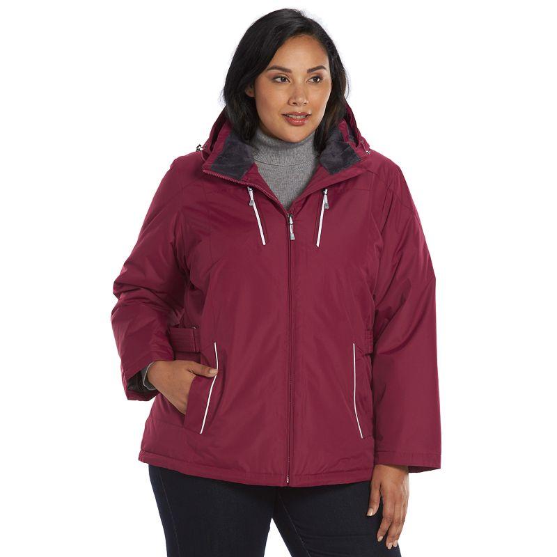 Plus Size ZeroXposur Hooded Storm (Blue) Shield Jacket, Women's, Size: 1X