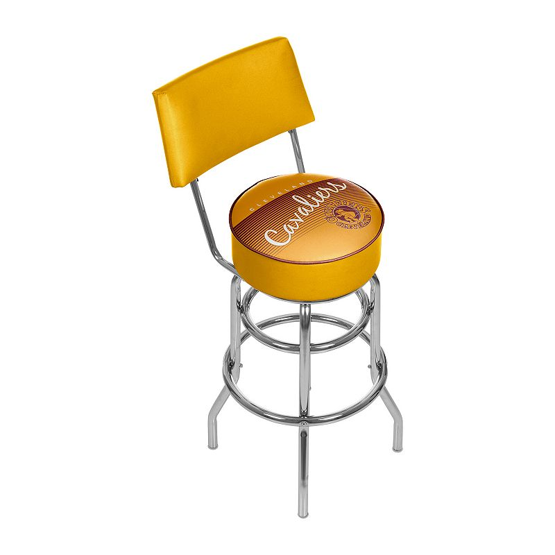Cleveland Cavaliers Hardwood Classics Padded Swivel Bar Stool with Back