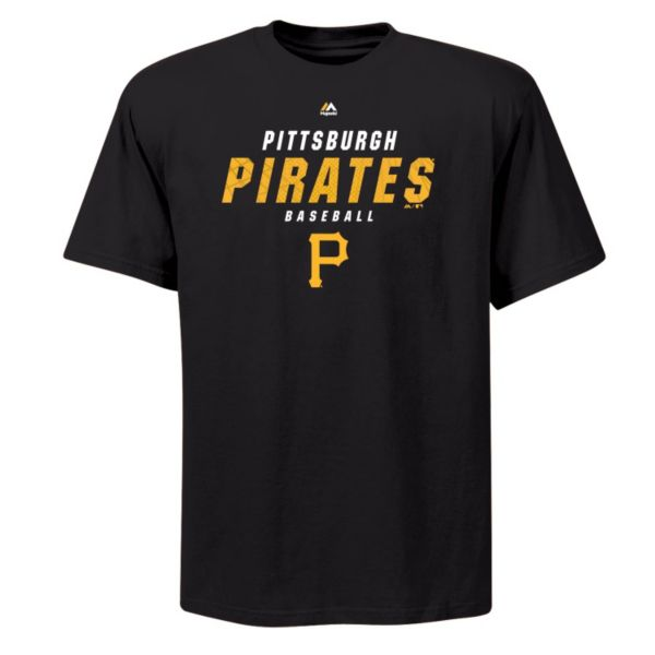 Big & Tall Majestic Pittsburgh Pirates All the Way Game Synthetic Tee