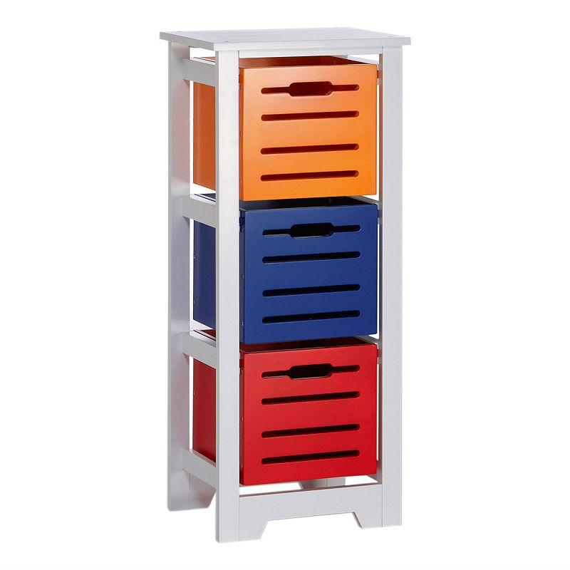 RiverRidge Kids 3-Bin Storage Cabinet